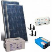 Solar Kit: Solar Panel + Inverter + Battery