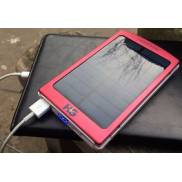 Solar power bank 6k Red with iPad